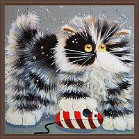 Постер Кот с мышкой 30х30 см