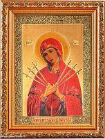 Икона 13х18 Богородица Семистрельная  под стеклом / S048-28 / 2005C1-139A1/
