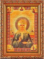 Икона 13х18 Матрона Московская   под стеклом / 3027-TF / 2005C1-139A1 /