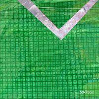 Бумага для упаковки подарков 50х70 100 листов / 107-2 / зеленый
