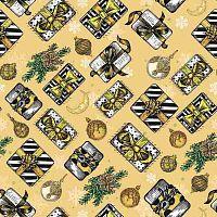Бумага оберточная Новогодний подарок для сувенирной продукции в рулонах, с полноцветным декоративным рисунком, плотность 90 г/м2 / 100х70 (погрешность