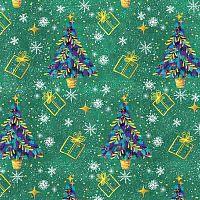 Упаковочная бумага для сувенирной продукции в рулонах, мелованная с двух сторон, с полноцветным декоративным рисунком, плотность 80 г/м2 арт.80855