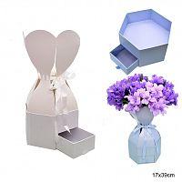 Коробка подарочная для цветов / 9475 /уп 48/ АКЦИЯ
