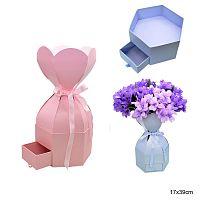 Коробка подарочная для цветов / 9476 /уп 48/ АКЦИЯ