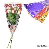Пакет для цветов конус 100 штук набор / 366-2 /уп 100/Акция
