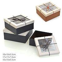 Коробка подарочная 3 штуки / 8301-93 /уп 36/