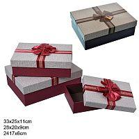 Коробка подарочная 3 штуки / MS9304-52Q /уп 16/