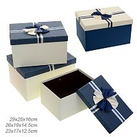 Коробка подарочная набор 3 штуки / B3021-8 /уп 18/