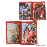 Пакет подарочный 17х24x8 Новый год + ПОДАРОК гирлянда к уп. 12 шт / 16089S /уп 12/960/