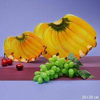 Блюдо 2 предмета 30, 20 см Банан Акция 1063-Z383 / Большая+малая/ подарочная упаковка