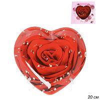 Блюдо 20 см Сердце Роза с капельками росы АКЦИЯ / HT0008C M221 /уп 32/ Цветная коробка