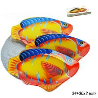 Блюдо 3 предмета Рыба Акция 1060-Z382 /уп.8/ 1х34 см, 2х30 см