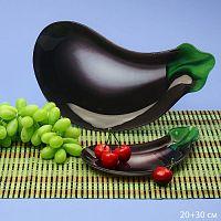Блюдо для сервировки 2 предмета Баклажан Акция Б+Малая 1068-Z388 подарочная упаковка