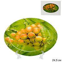 Блюдо овальное 25 см / S450110AW  B312 /уп 24/ Виноград