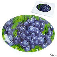 Блюдо овальное 30 см подарочная коробка  / GREY S450112A P241 /уп.6/36/ Виноград