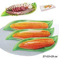 Тарелка для сервировки 3 предмета Кукуруза Акция / 1067-Z387 /уп.12/