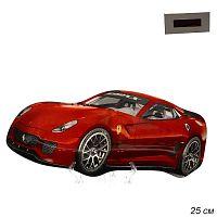 Тарелка Машина 25 см  красная / CR0010 L227 / уп 54 / белая коробка
