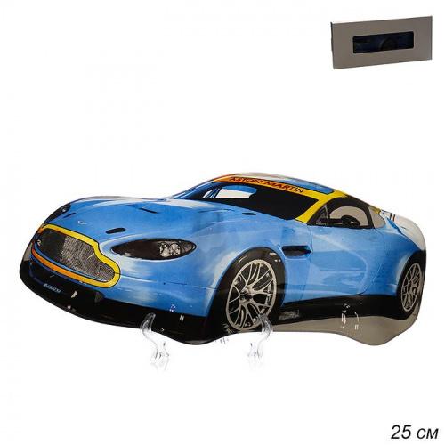 Тарелка Машина 25 см синяя / CR0010 M201 / уп 54 / белая коробка