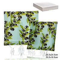 Тарелки квадратные 2 предмета 25 и 20 см / 1002-123 /уп.12/ белая коробка