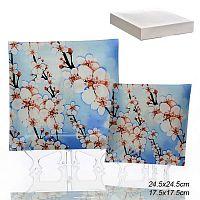 Тарелки квадратные 5 штук / 1035F5-002B /уп 6/ белая коробка