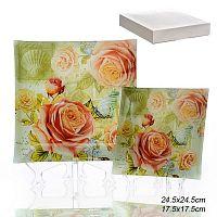 Тарелки квадратные 5 штук / 1035F5-084A /уп 6/ белая коробка