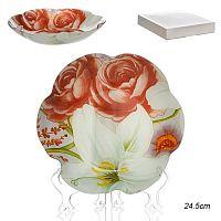 Салатник 20 см Цветок / 1049/1- Z549 /уп 48/ белая коробка