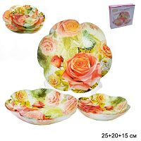 Салатники 3 предмета 25, 20 и 15 см Цветок / 1049-Z084A / 1049-084A /уп 8/ Розы