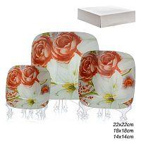 Салатники квадратные 3 предмета  / 1025-Z549 /уп.8/ белая коробка
