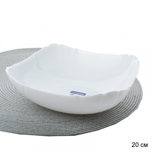 Салатник 20 см Лотусия белый / L0673 /уп/
