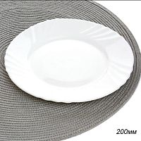 Тарелка 200 мм белая / BHP-80 (WHITE) /уп 6/48/