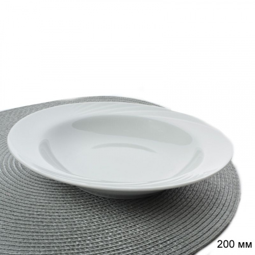 Тарелка глубокая 200 мм голубка белье / 0с0580 /уп 12/