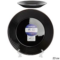 Тарелка глубокая 23 см HARENA BLACK / L7610 /