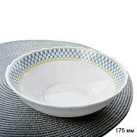 Тарелка глубокая суповая 650 мл  АКЦИЯ / HW-70YF-17104 /уп 6/48/ Сетка