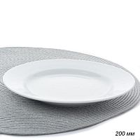 Тарелка мелкая 200 мм идиллия белье / 4с0165 /уп 20/