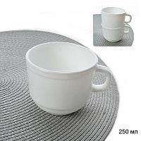 Кружка 250 мл белая для кафе / KFB250T (NULL) /уп 48 /