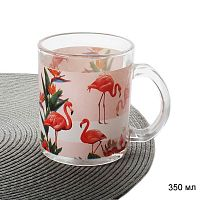 Кружка 350 мл Розовый фламинго АКЦИЯ / S2348 U047 /уп 6/ 48 /