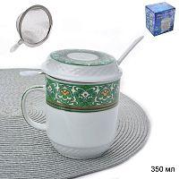 Кружка для заваривания чая с ситом 350 мл / IS-1747 /уп 48/
