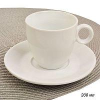 Чашка+блюдце 2 предмета 200 мл 2 сорт / CA-206 /уп 48/