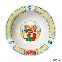 Миска 300 мл Три богатыря Царевны / КРС-900 /уп 12/ керамика