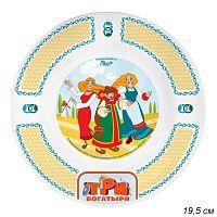 Тарелка 20 см Три богатыря Царевны / КРС-845 /уп 12/ малая стекло