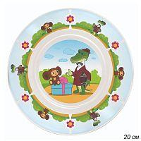 Тарелка 20 см Чебурашка и крокодил Гена / КРС-701 /уп 12/ малая стекло