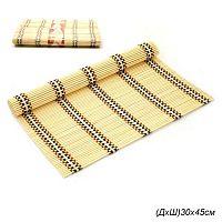 Салфетка для стола из бамбука 4 штуки 30х45 см / 121-2 /уп.50/