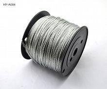Трос стальной, плетённый, для картин 2.4 мм №6 /198 м/ HY-A004 /уп 8/